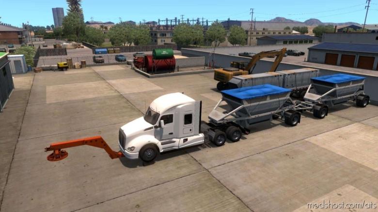 TOW Truck Broken Trailer [1.37] for American Truck Simulator