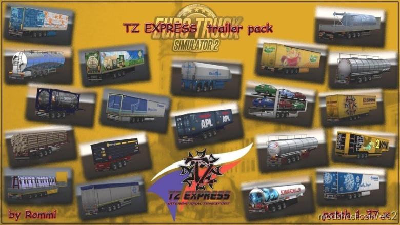 TZ Trailers Pack [1.37] for Euro Truck Simulator 2