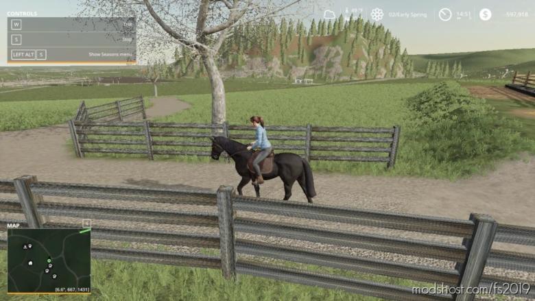 Black Ranch Fencing for Farming Simulator 19