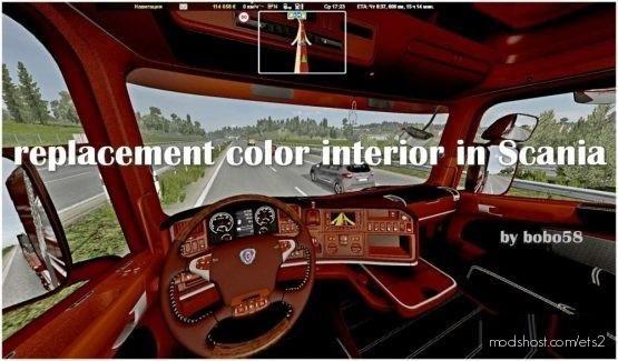Replacement Color Interior In Scania for Euro Truck Simulator 2