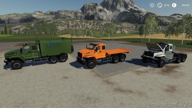 Pack Ural Next T25 420 6X4 for Farming Simulator 19