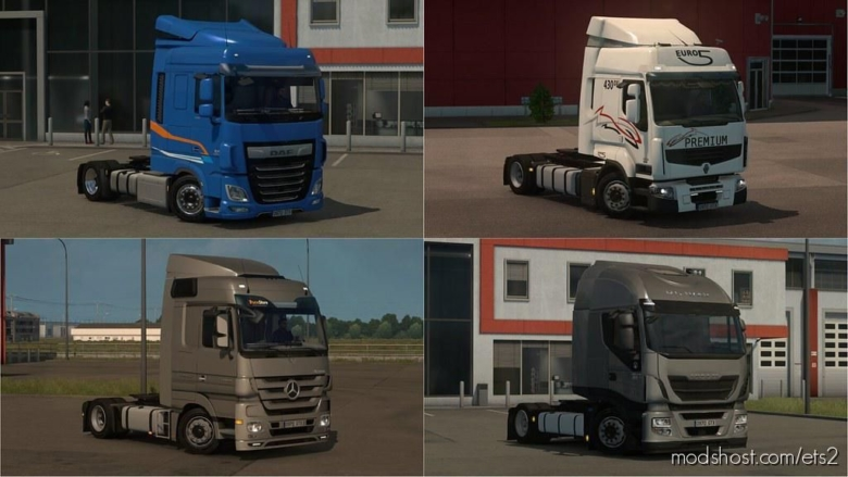 LOW Deck Chassis Addons For Schumi's Trucks V4.1 [1.37] for Euro Truck Simulator 2