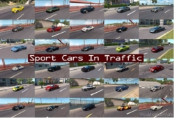 Sport Cars Traffic Pack (ATS) By Trafficmaniac V6.3 for American Truck Simulator