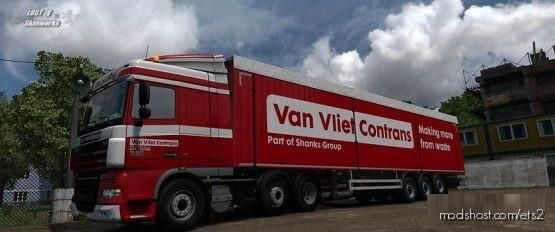 VAN Vliet Contrans DAF XF Combo for Euro Truck Simulator 2