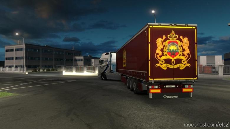 Krone Trailer Metalic Paintable Skin for Euro Truck Simulator 2