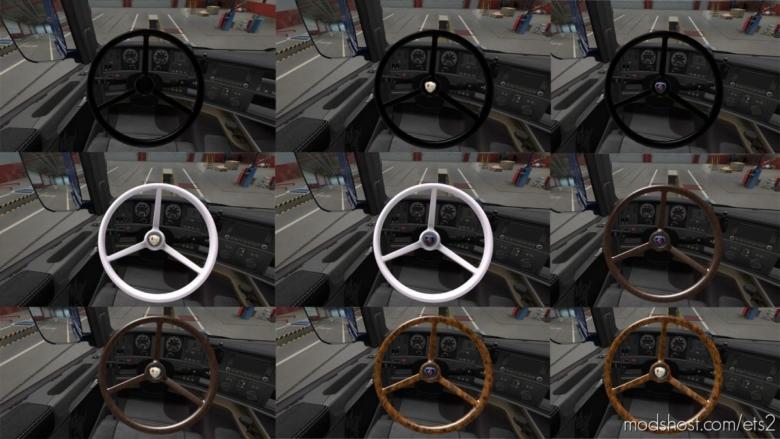 Pack Steering Wheel Vabis For Scania [1.37] for Euro Truck Simulator 2