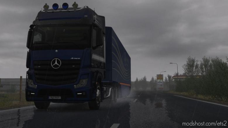 Realistic Rain V3.5.1 [1.37] for Euro Truck Simulator 2