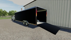 Enclosed Trailer 30FT for Farming Simulator 19