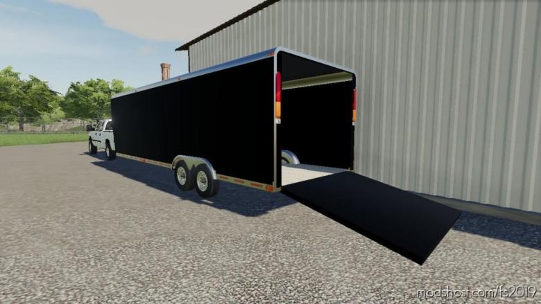 Enclosed Trailer 30FT for Farming Simulator 19