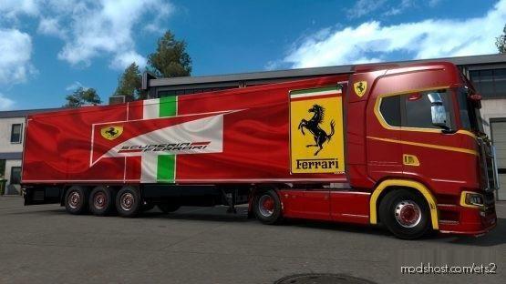 Ferrari Scania 4 X 2 Skin for Euro Truck Simulator 2