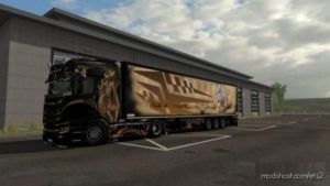 Wild Paintjob For Obelihnio's Schmitz SK.O for Euro Truck Simulator 2