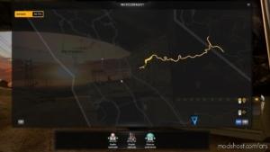Highlight Undiscovered Roads V1.37 for American Truck Simulator