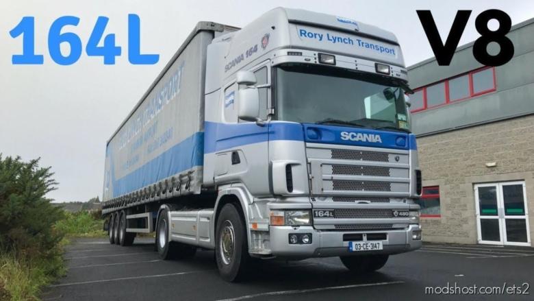 Scania 4 Series V8 (2 Variant) Open Pipe Fmod V1.1 for Euro Truck Simulator 2