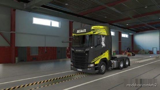 Star Group Skin Scania S2016 Modsbytaku for Euro Truck Simulator 2