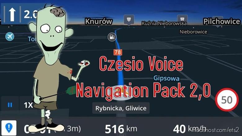 Czesio Voice Navigation Pack V2.0 for Euro Truck Simulator 2