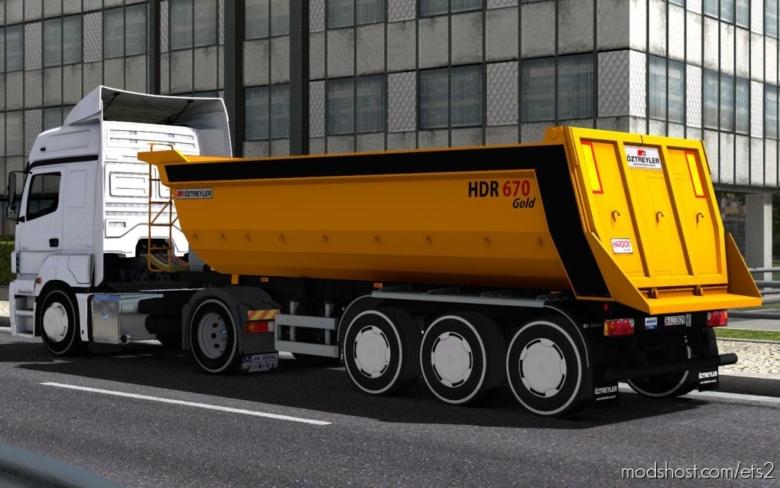 Oztreyler Damper Trailer [1.37] for Euro Truck Simulator 2