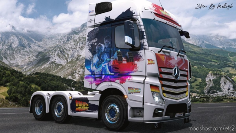 Back To The Future Mercedes MP4 Skin for Euro Truck Simulator 2