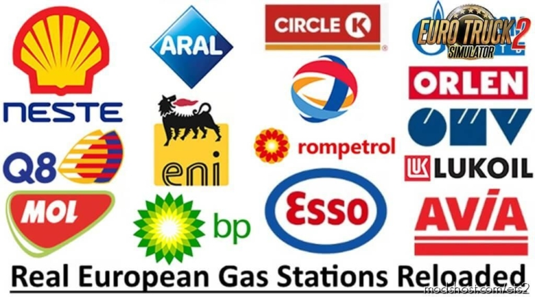 Real European GAS Stations Reloaded V1.2 for Euro Truck Simulator 2