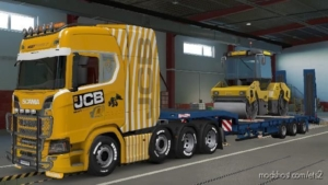 JCB Heavy Transport Skin For Scania S + Scania R 8×4 HQ for Euro Truck Simulator 2