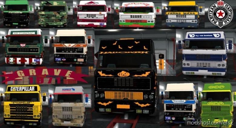 DAF F241 50 Skins V1.3 for Euro Truck Simulator 2