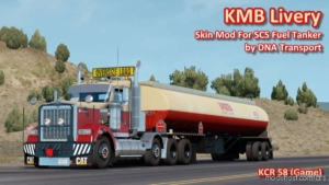 KMB Livery For SCS Fuel Tanker By DNA Transport for American Truck Simulator