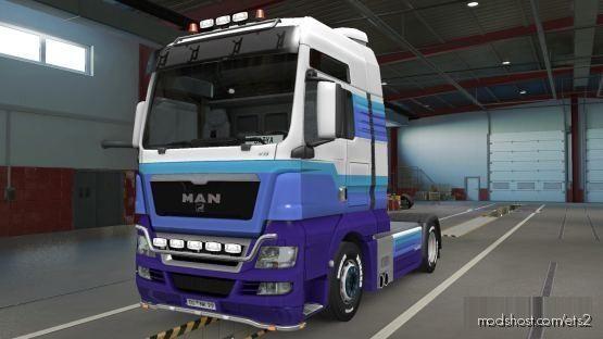 MAN TGX Truck Paintjob Skin + SCS BOX Trailer Paintjob Skin Combo [1.37] for Euro Truck Simulator 2