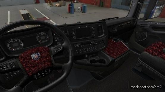 Scania Nextgen R&S Alcantara Redplush for Euro Truck Simulator 2