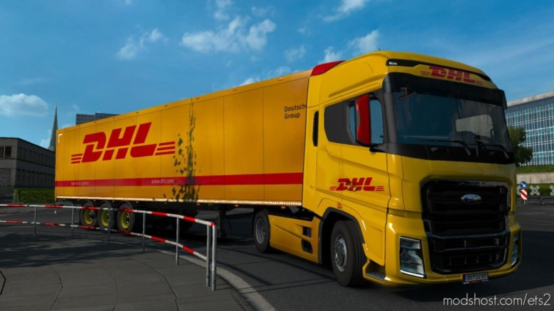 Ford F-Max DHL Skin [1.37] for Euro Truck Simulator 2