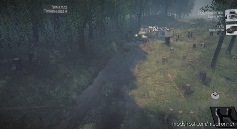 Level Difficult Logging Road Map for MudRunner