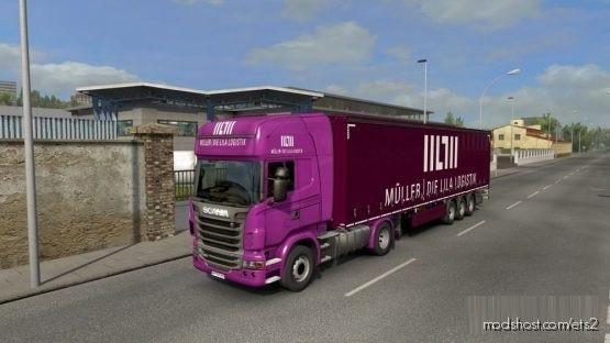 Mueller Lila Logistik Combo Skin for Euro Truck Simulator 2