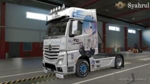 MB Actros MP4 REM Anime Girl Skin for Euro Truck Simulator 2