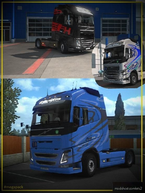 Volvo Skin Mega Pack Metallic/Paintable for Euro Truck Simulator 2