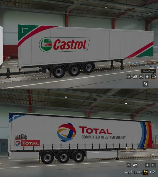 Trailer Paintjob Skins Bundle Of TOP European Companies for Euro Truck Simulator 2