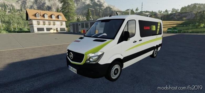 Mercedes Sprinter Claas Service V1.5 for Farming Simulator 19