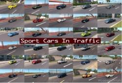 Sport Cars Traffic Pack (ATS) By Trafficmaniac V6.4 for American Truck Simulator
