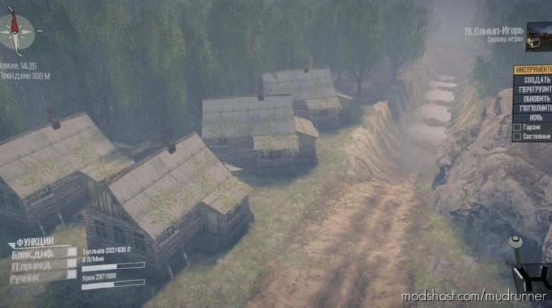 Level Difficult Logging Road Map V2 for MudRunner