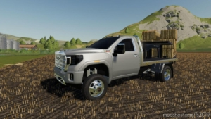 2020 GMC 3500HD Flatbed for Farming Simulator 19