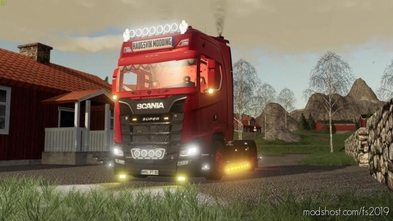 Scania S580 V8 for Farming Simulator 19