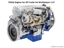 750HP Engine For ALL Trucks For Multiplayer [1.37] for Euro Truck Simulator 2