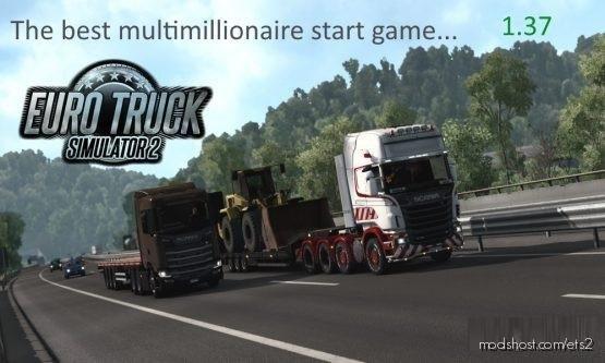 The Best Multimillionaire Start Savegame for Euro Truck Simulator 2