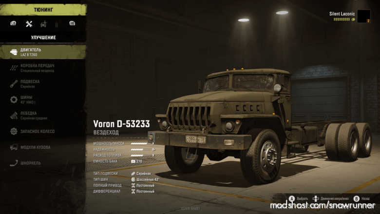 Ural 4320 Cover Beta V0.1 for SnowRunner