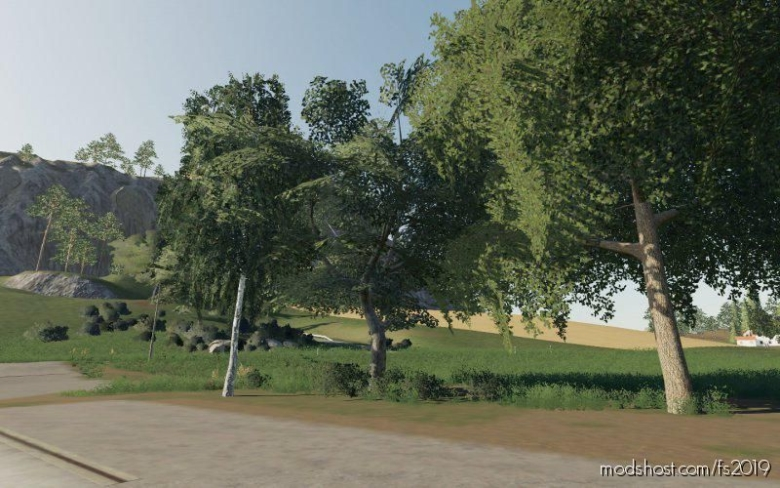 Dark Trees & Bush Textures for Farming Simulator 19