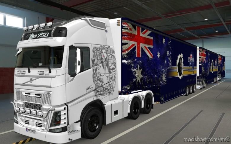 Skin Volvo FH16 2012 Woman [1.37] for Euro Truck Simulator 2