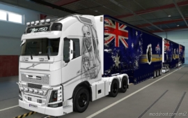 Skin Volvo FH16 2012 USE Mask [1.37] for Euro Truck Simulator 2
