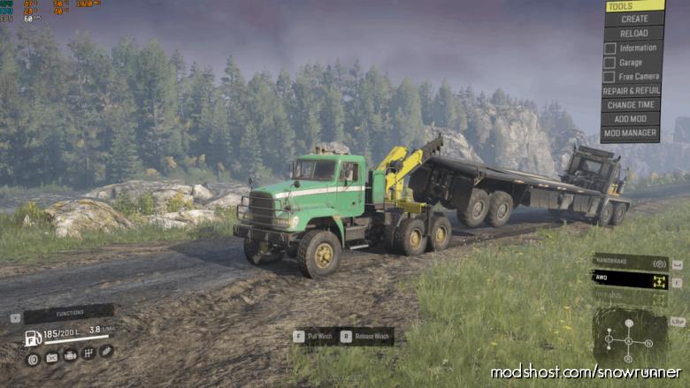Freightliner M916A1 TOW Truck V2.6 for SnowRunner