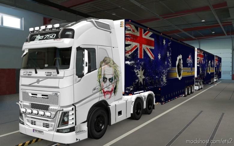 Skin Volvo FH16 2012 Coringa [1.37] for Euro Truck Simulator 2