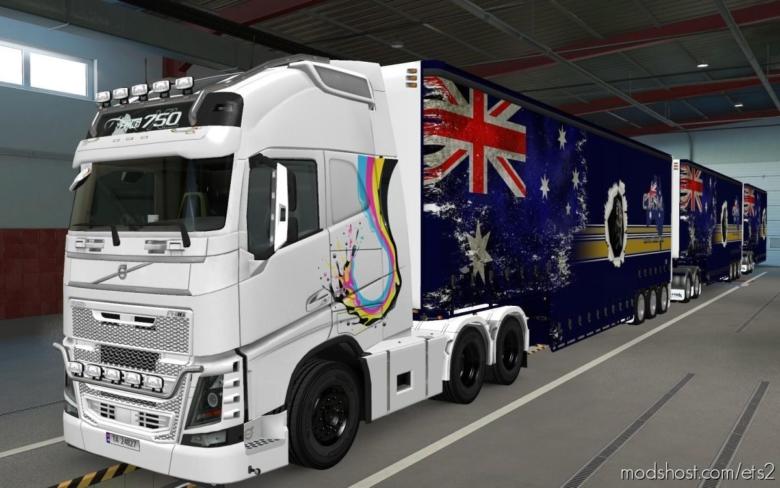 Skin Volvo FH16 2012 Aquarela [1.37] for Euro Truck Simulator 2