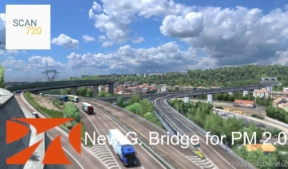NEW Genova Bridge For Promods V2.0 Addon [1.37.X] for Euro Truck Simulator 2