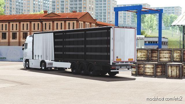 Side Curtain Open Trailer [1.37] for Euro Truck Simulator 2
