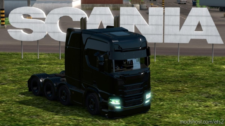 Scania R Black Edition For MP [1.37] for Euro Truck Simulator 2